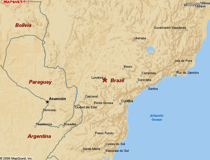 Project Updates Soy Bean Rust Project PSS UK - Londrina map