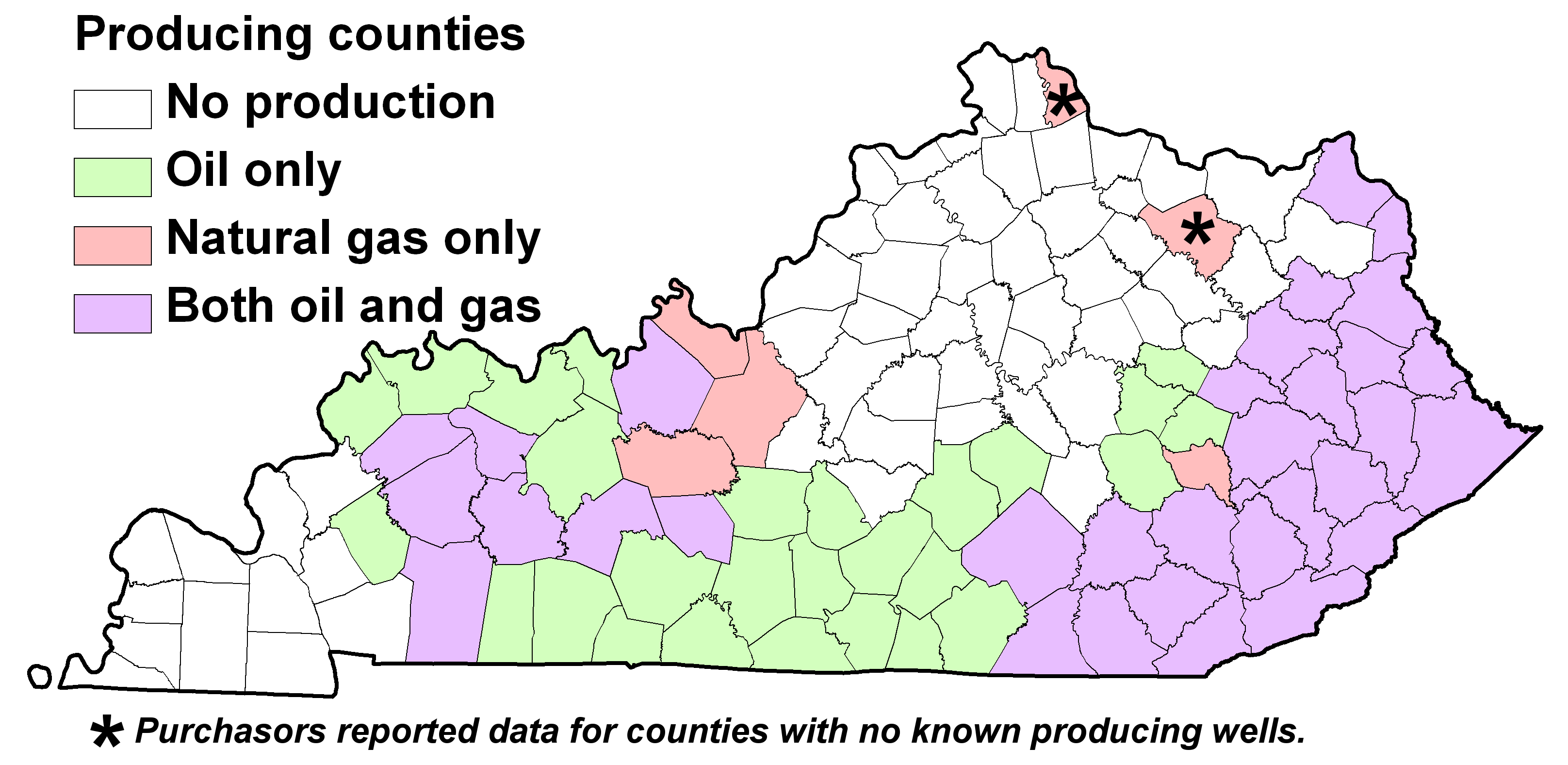 KY FAQ Do I Have Oil And Gas Resources - Map of kentucky with counties