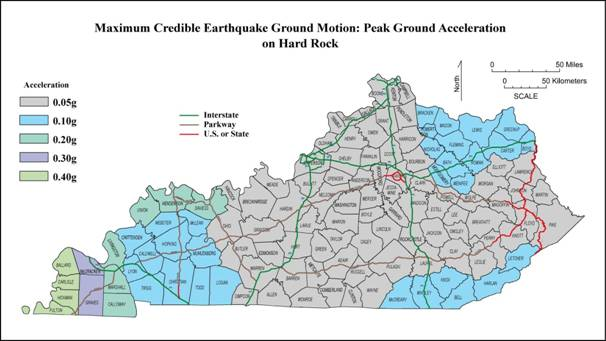 Seismic Hazard Assessment In Western Kentucky Current Research - Us map of kentucky