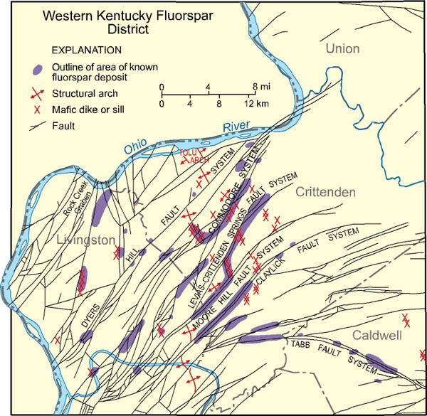 Rocks And Minerals Kentucky Geological Survey University Of Kentucky - Map of western kentucky