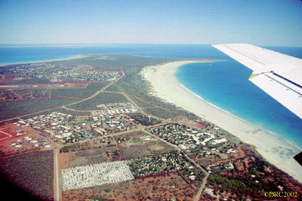 Cable Beach, Broome, note terra rosa (red soil) at left