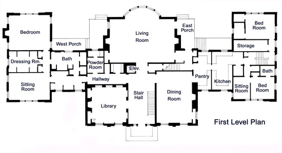 THE PAULSON MANSION, FLOOR PLANS