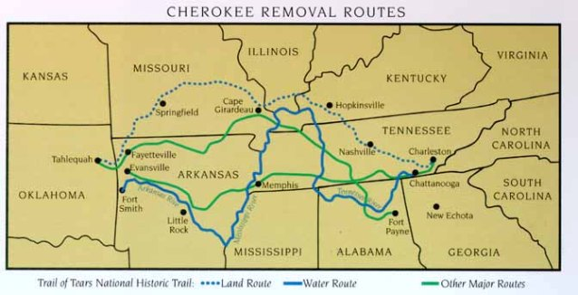 the removal of the cherokees of georgia and alabama by the united states government The indian removal act essay  georgia, florida, alabama,  the united states government began to make treaties with the different tribes to allow them to.