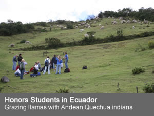 Honors Students in Ecuador