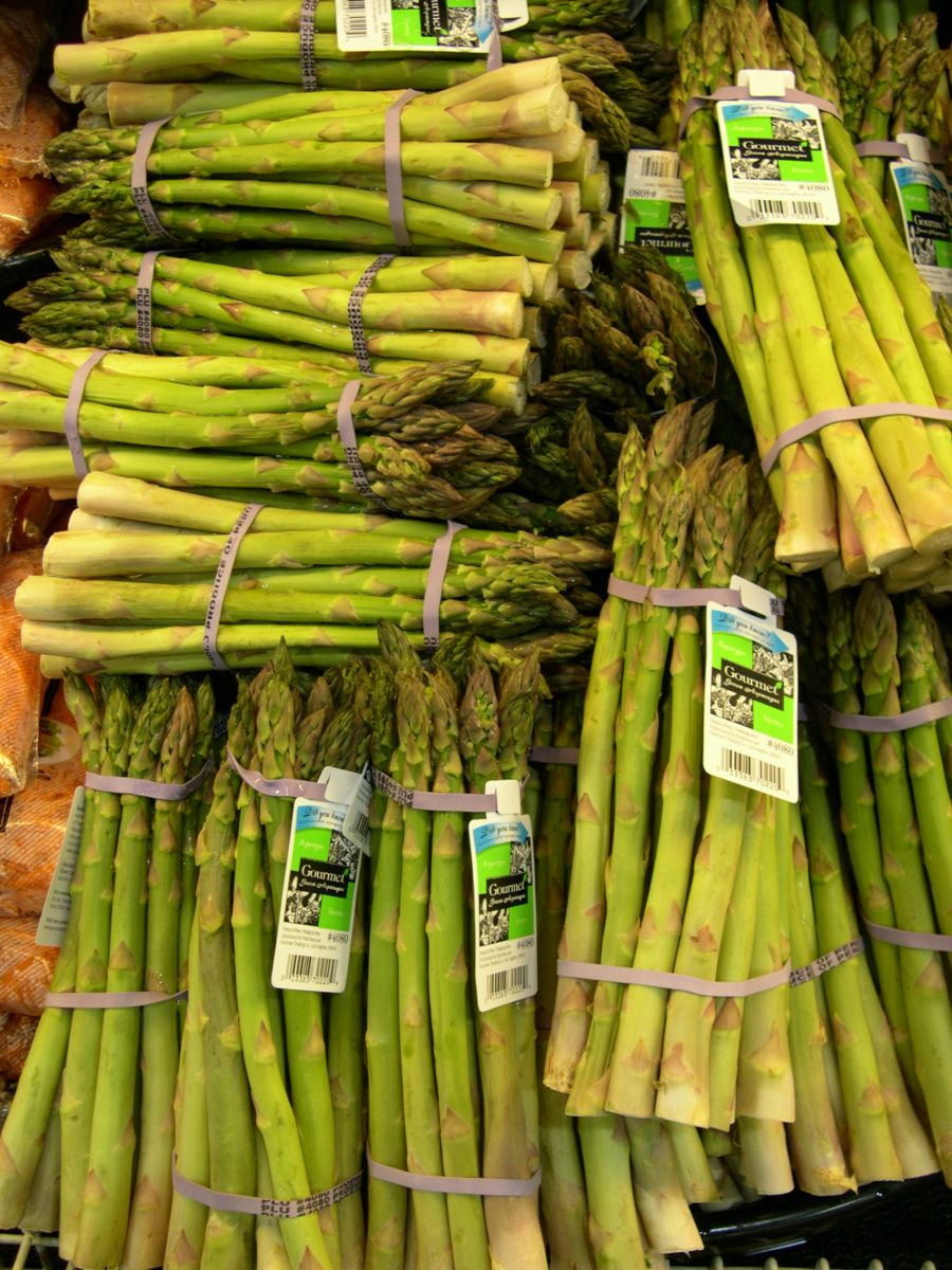 Bundled Asparagus on Display