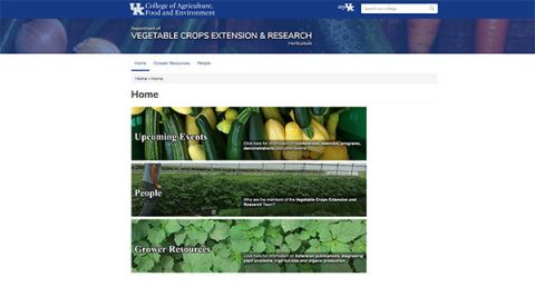 home page of Vegetable Crops Extension & Research