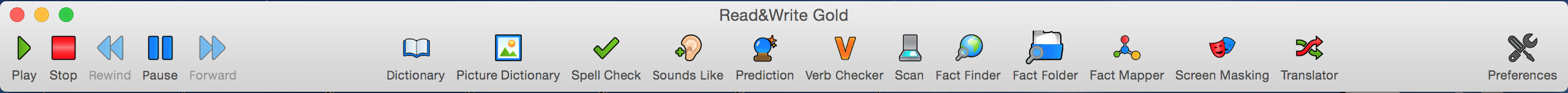 Read&Write Gold Writing Toolbar for Mac
