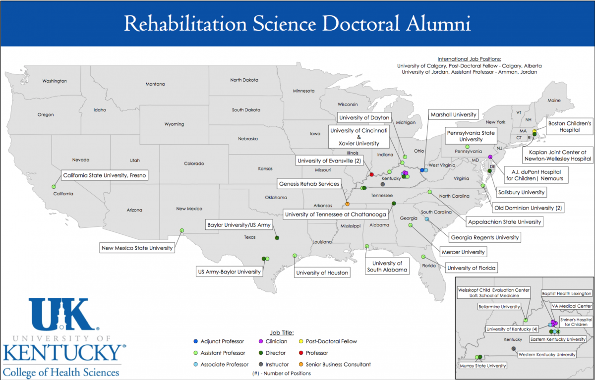 map of alumni employment