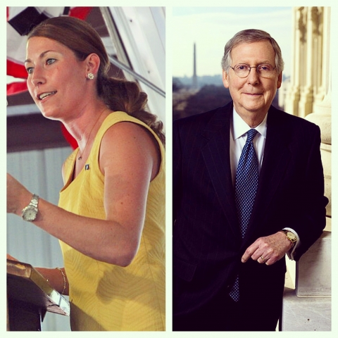 Alison Lundergan Grimes- Mitch McConnell