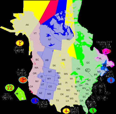 Zeitzonen Florida