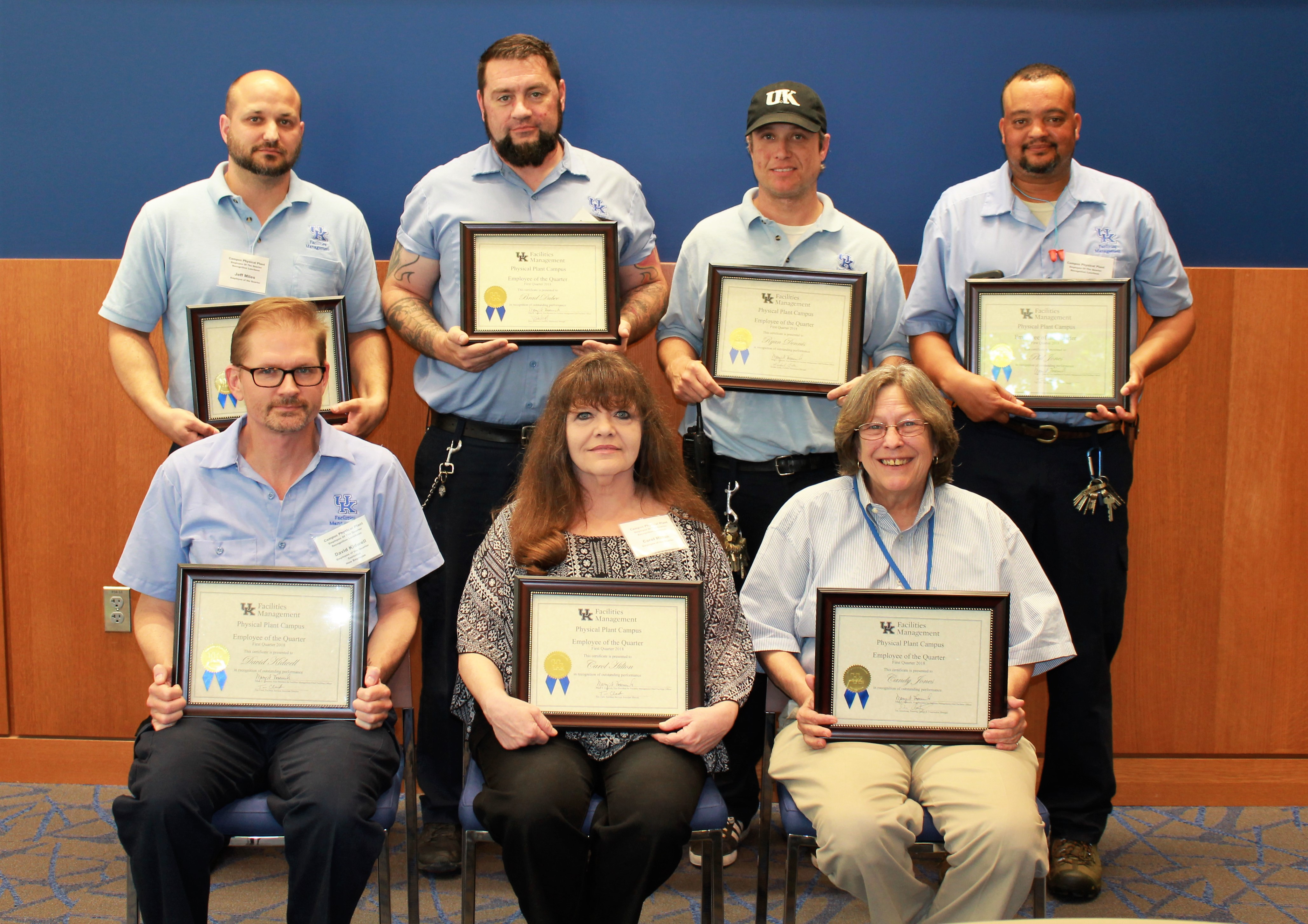 employees of the quarter facilities management