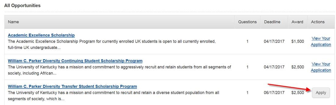 Transfer students scholarships uk student financial aid and you can then click apply for william c parker diversity transfer student scholarship program thecheapjerseys Gallery