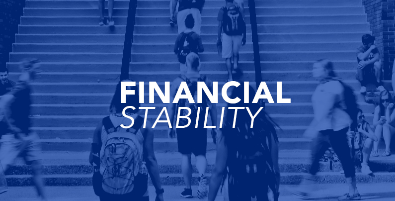 """picture with graphic that says """"financial stability"""""""