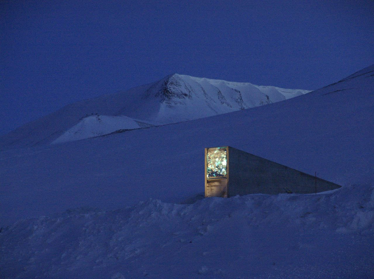 Picture of entrance to Svalbard Global Seed Vault