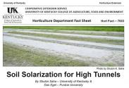 HortFact - 7003 Soil Solarization for High Tunnels