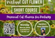 Virtual Cut Flower Short Course flyer