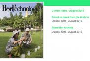 HortTechnology August 2015 issue