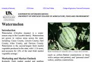 Center for Crop Diversification Watermelon Crop Profile
