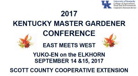 Superb 2017 KY Master Gardener Conference Program