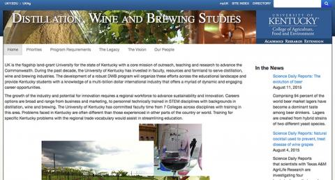 Distillation Wine And Brewing Studies Program Department Of Horticulture