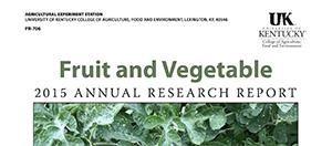 Fruit and Vegetable Research Report cover