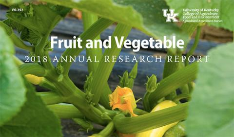 Cover page of 2018 Fruit and Vegetable Research Report