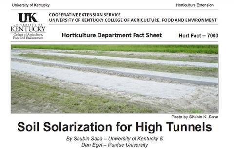 HortFact - 7003 Soil Solarization for High Tunnels