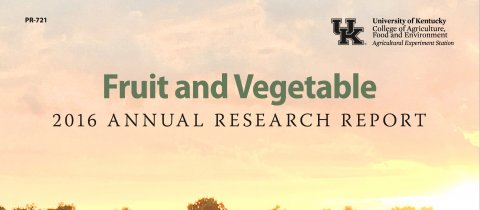 Cover of the 2016 Fruit and Vegetable Annual Research Report