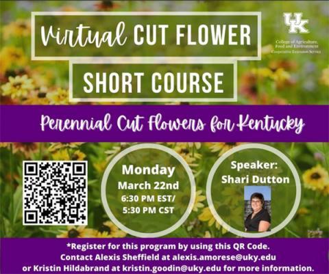 Virtual Cut Flower Short Course flyer