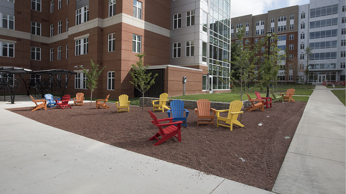 Holmes Hall Outdoor Patio