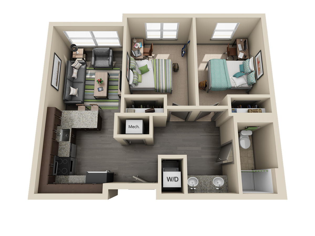 Room types uk housing for One and two bedroom apartments