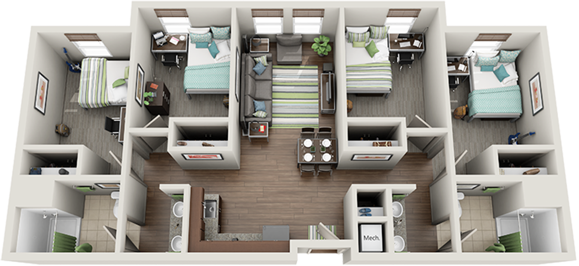 Photo of 4-bedroom suite