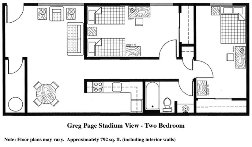 Greg Page Stadium View Apartment floor plan