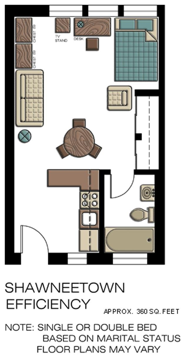 Shawneetown Efficiency floorplan