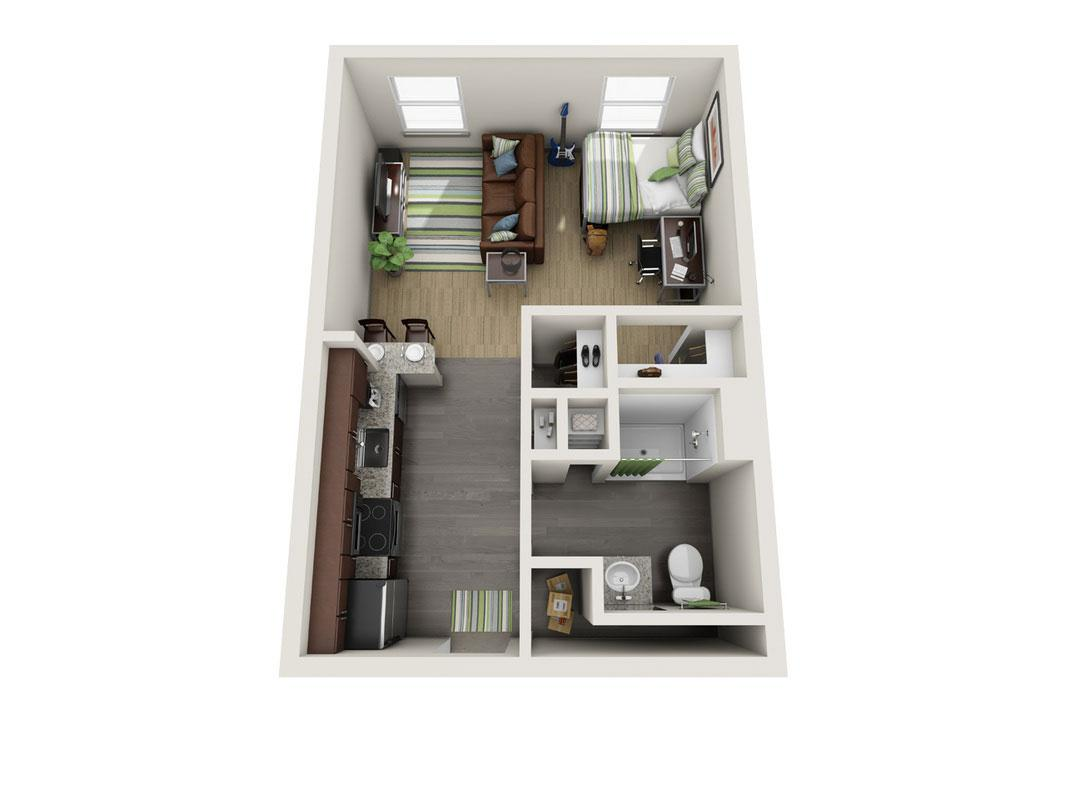 UFlats Studio Apartment