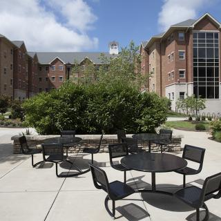 Outside Patio at Johnson Hall
