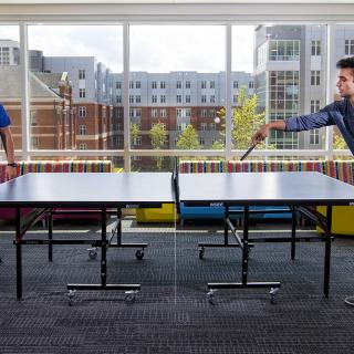 Ping Pong in Boyd Hall Common Area