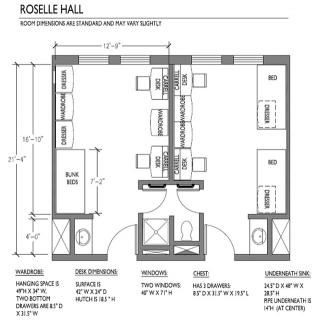 Roselle Hall Room Dimensions