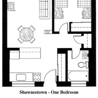 Shawneetown 1 Bedroom Floorplan