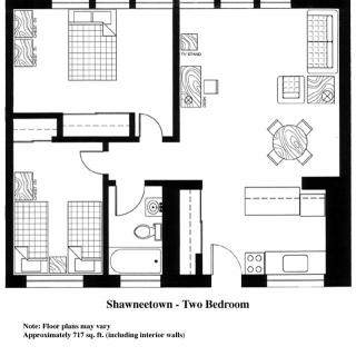 Shawneetown 2 Bedroom Floorplan