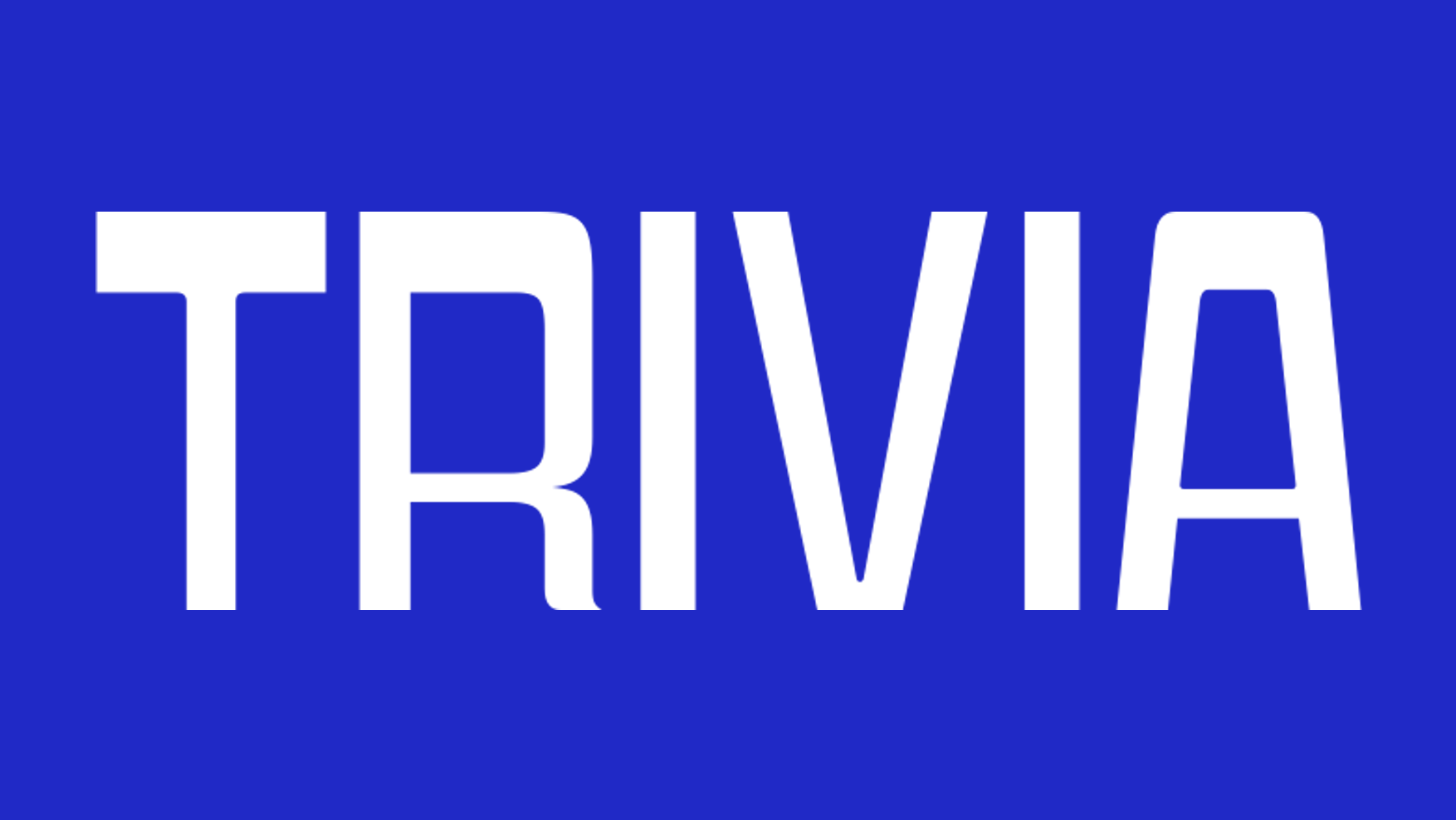Trivia title card styled in the Jeopardy font