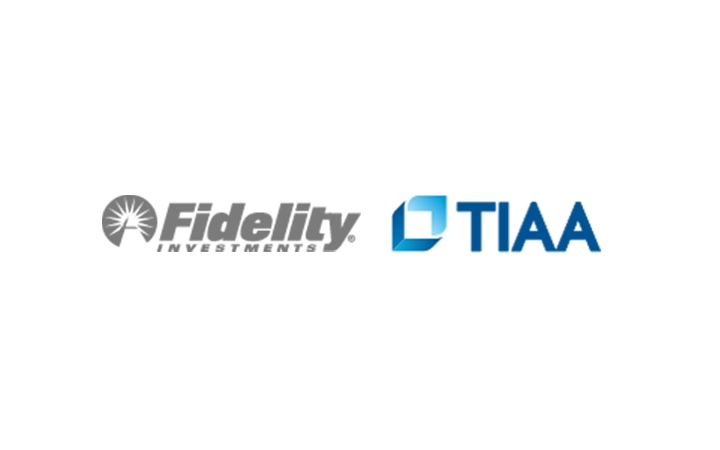 Fidelity and TIAA logos