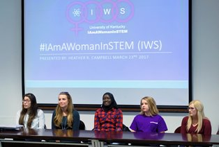 Student Panel at IAmAWomanInSTEM Gathering