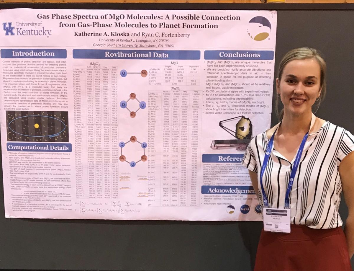 Katie Kloska presenting her poster at ACS meeting in New Orleans