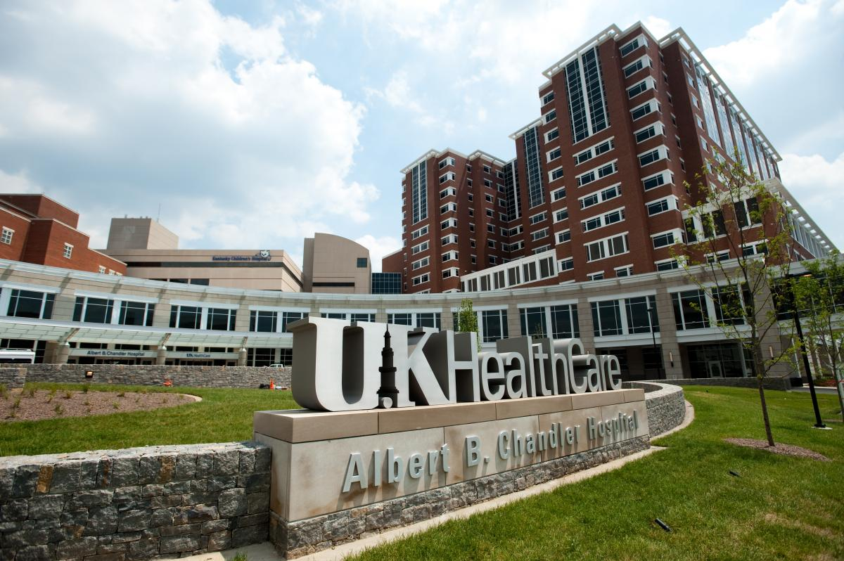 Photo of the front of UK HealthCare's Albert B. Chandler Hospital
