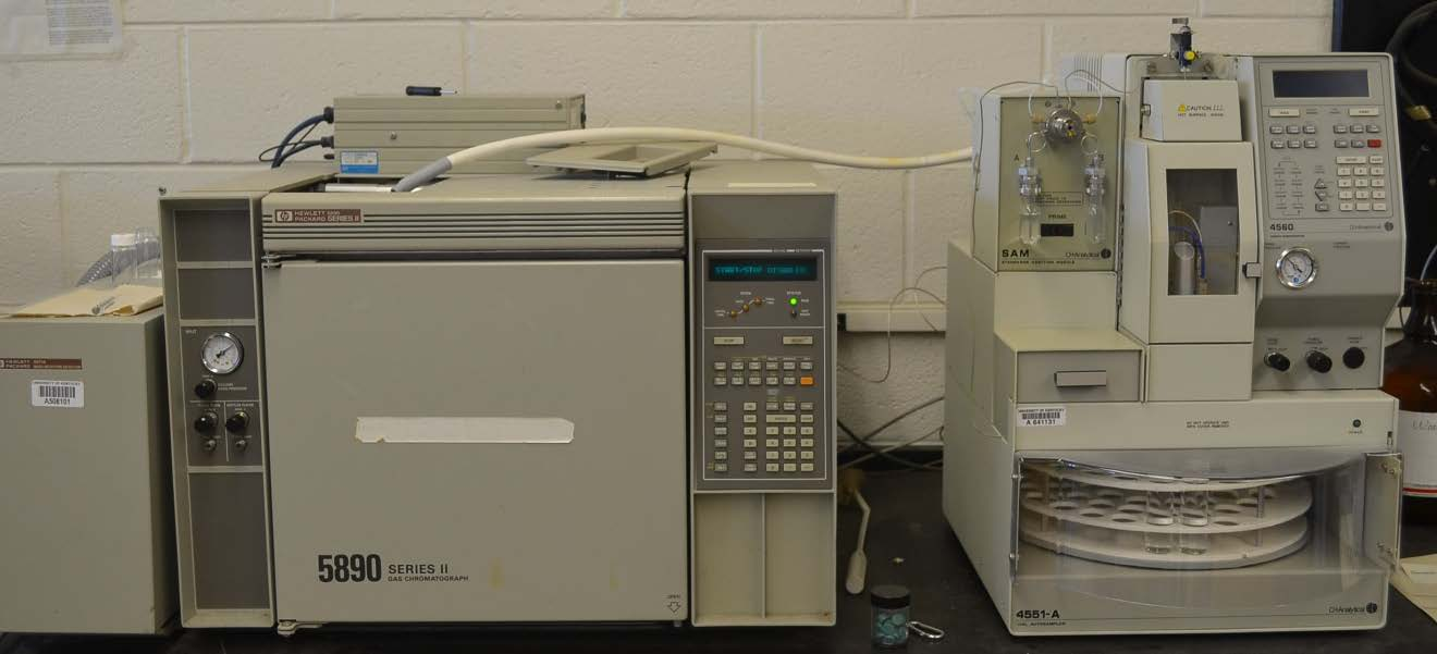 HEWLETT-PACKARD Gas Chromatography-Mass Spectrometry (GC-MS) with Purge and Trap System
