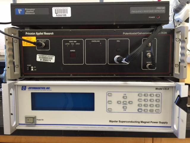 Princeton Applied Research Potentiostat/Galvanostat (Model 263A) with Frequency Response Detector (Model FRD100)