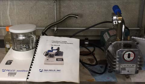 TED PELLA PELCO easiGlow 91000 Discharge Cleaning System with PELCO GD7 Vacuum System (Pump) 91020