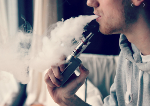 Image of person vaping