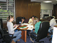 Students studying at SSS Offices